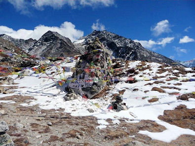 Scott Fisher's memorial who died 9 May 1996 on Everest